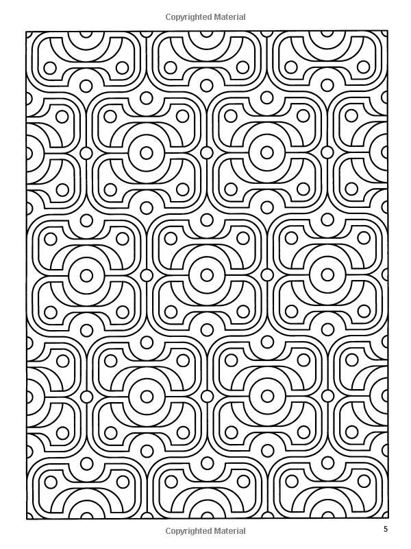Deco Tech: Geometric Coloring Book: John Wik, Coloring Books for ...