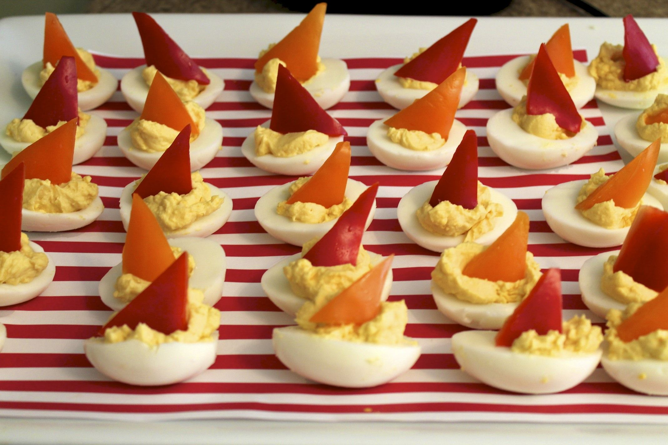 Deviled Egg Sailboats