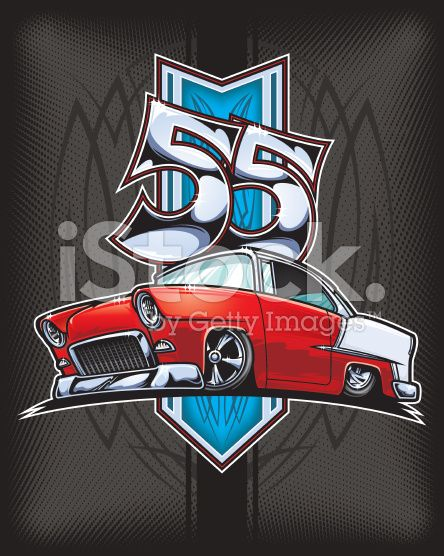 This Is An Illustration Of A 1955 Chevy Belair Custom Set Up In