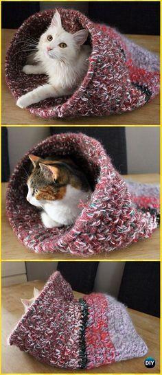 Crochet Cat Cave Free Pattern Crochet Cat House Patterns