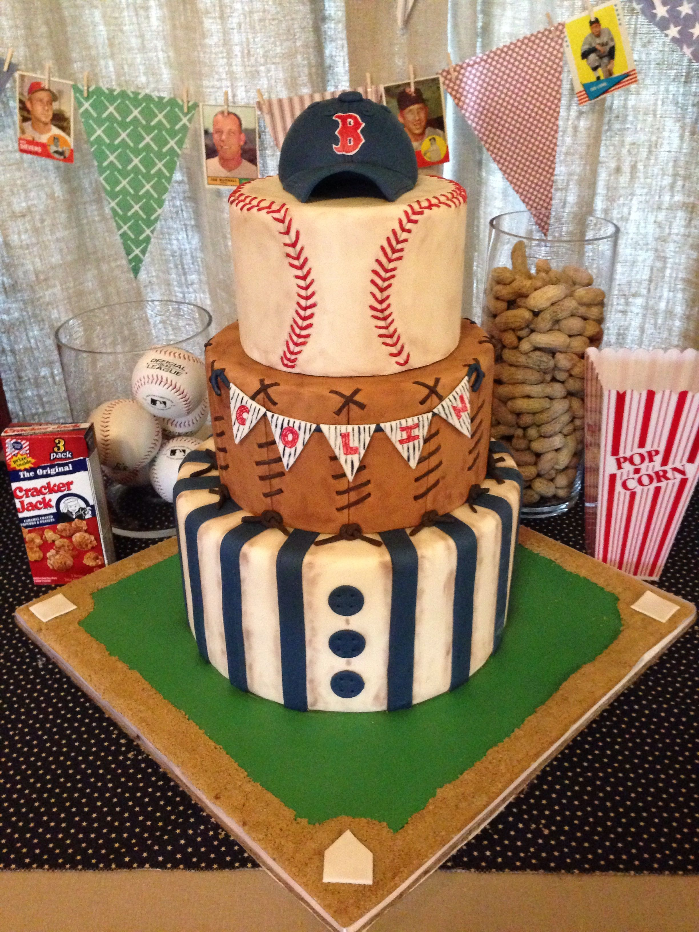 Stupendous Make The Top Layer To Look Like A Baseball Not Round Tier Probably Funny Birthday Cards Online Necthendildamsfinfo