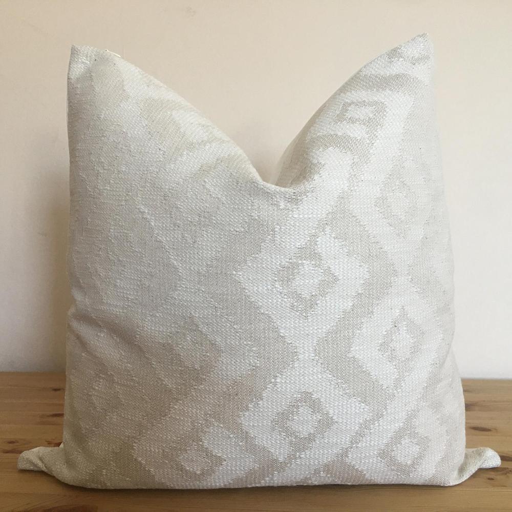 Cream pillow cover, ethnic cushion cover, boho pillow, high end pillow, white pillow, white throw pillow, natural throw pillow
