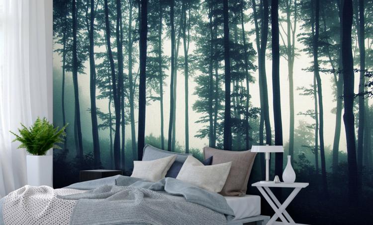 Fototapete Wald im Schlafzimmer – Ideen für wundervolle Motive im Großformat   Wald schlafzimmer ...