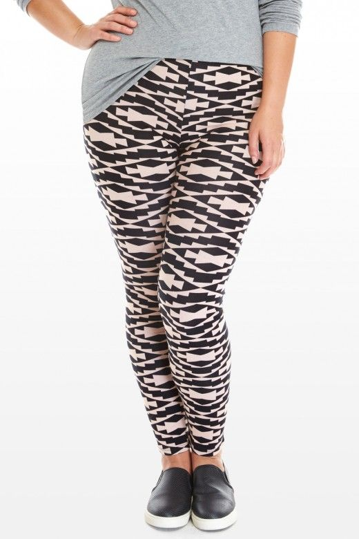 Plus Size Fiona Tribal Print Leggings | Fashion To Figure | Fiona Tribal Print Leggings    $18.90