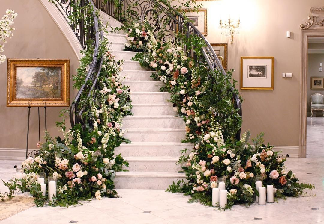 Wedding Staircase Decoration
