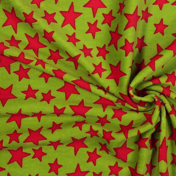 Velour Tähdet- Vihreä/pinkki
