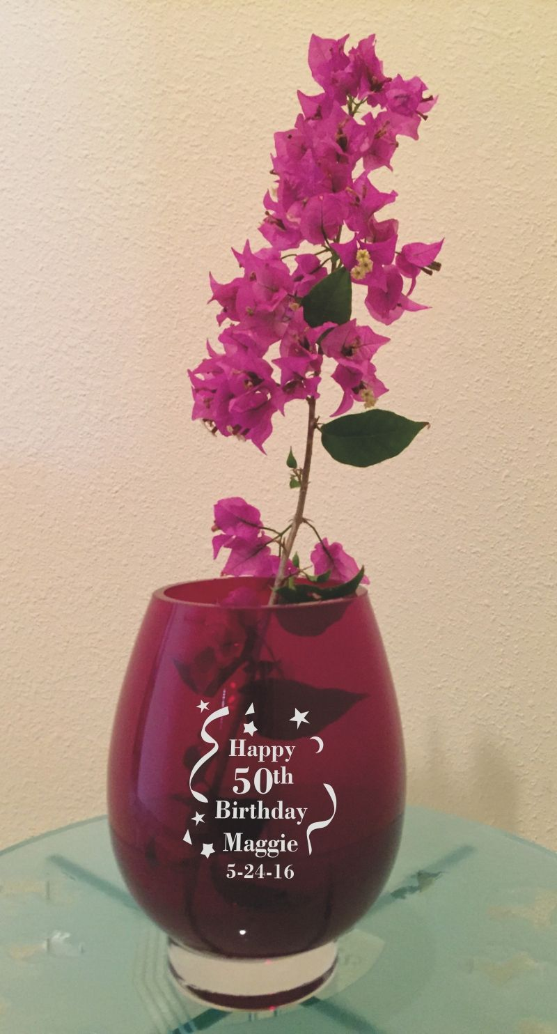 vase personalized a and beautiful pin can flower glass you highlight arrangement both this with photo