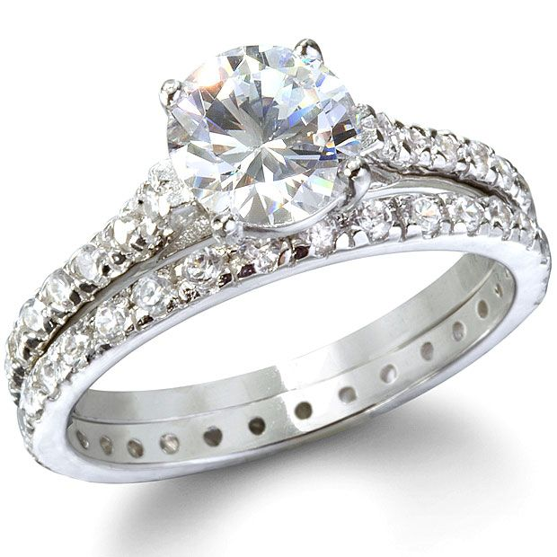 cheap cz sterling silver wedding ring sets - Cheap Sterling Silver Wedding Rings