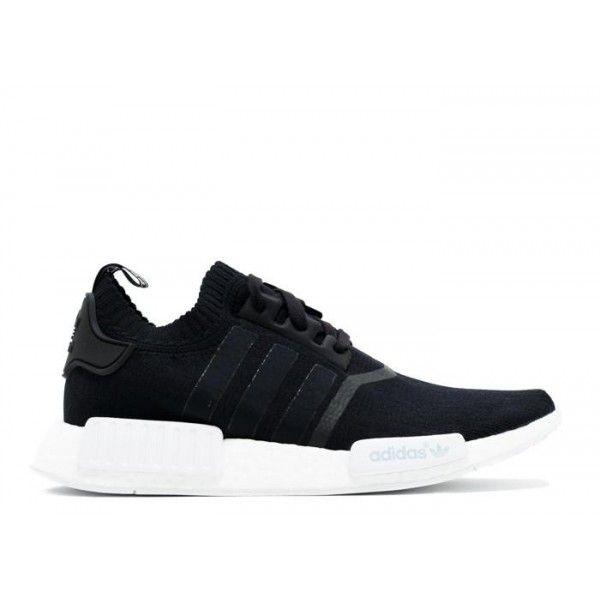 NMD R1 top Quality Pk Black White Sneaker Chrome Mono Shoes