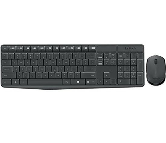 Logitech Wireless Keyboard and Mouse Combo Plug Play Spill-Proof