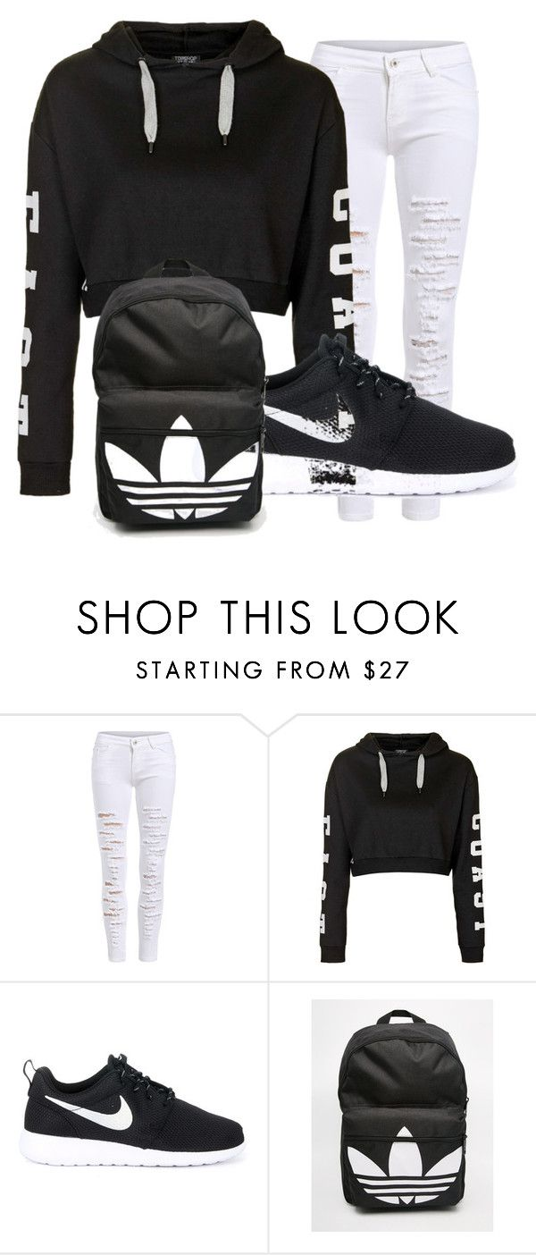 b921c9101 Untitled #35 by dianabarrera-1 on Polyvore featuring Topshop, NIKE, adidas,  women's clothing, women, female, woman, misses and juniors