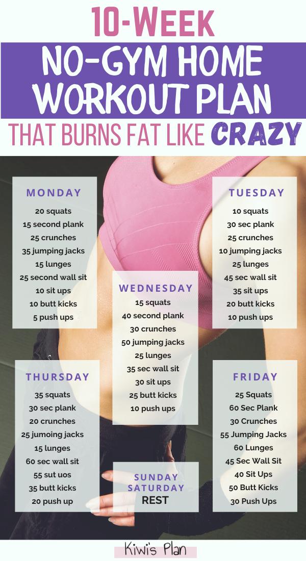 10-Week No-Gym Home Workout Plan That Burns Fat Li