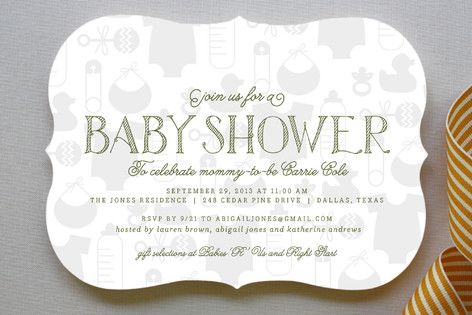 Baby Icons Baby Shower Invitations