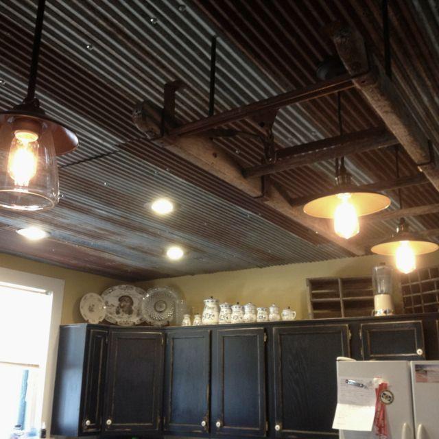 rusted barn tin ceiling - photo #8