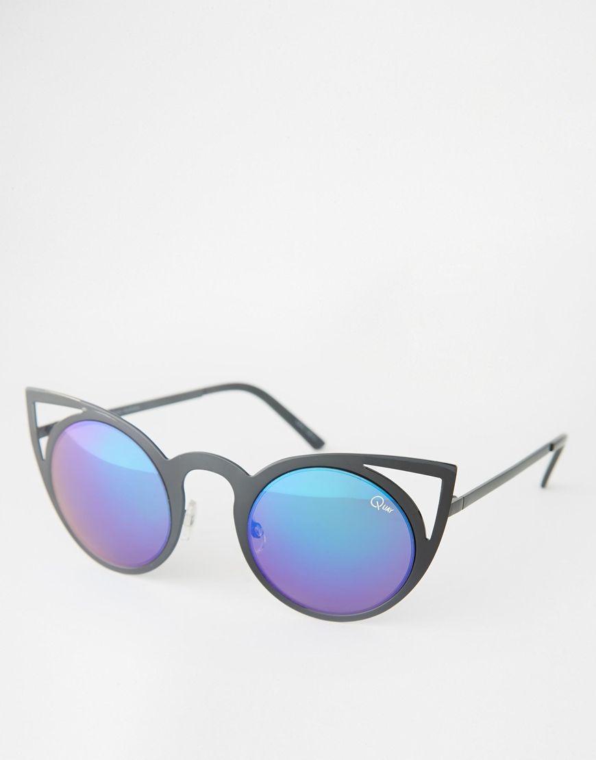 Quay Australia - Invader - Lunettes de soleil yeux de chat - Noir 4gDtjOtwW