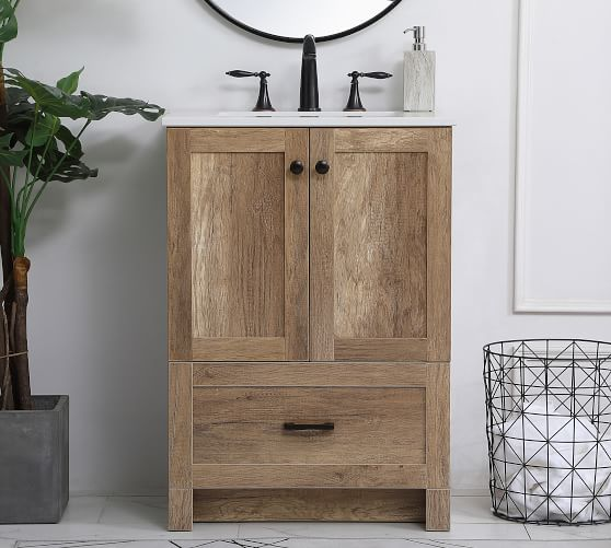 Alderson 24 Single Sink Vanity In 2020 Single Sink Vanity Wood Bathroom Vanity 30 Inch Bathroom Vanity