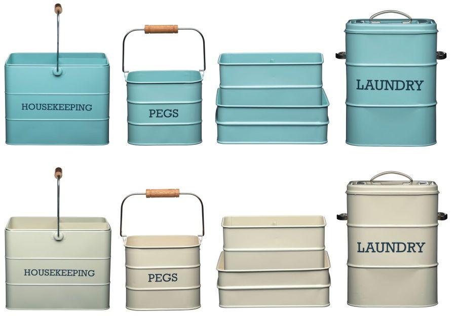 Kitchen Craft Living Nostalgia Housekeeping Laundry Pegs Storage Tin
