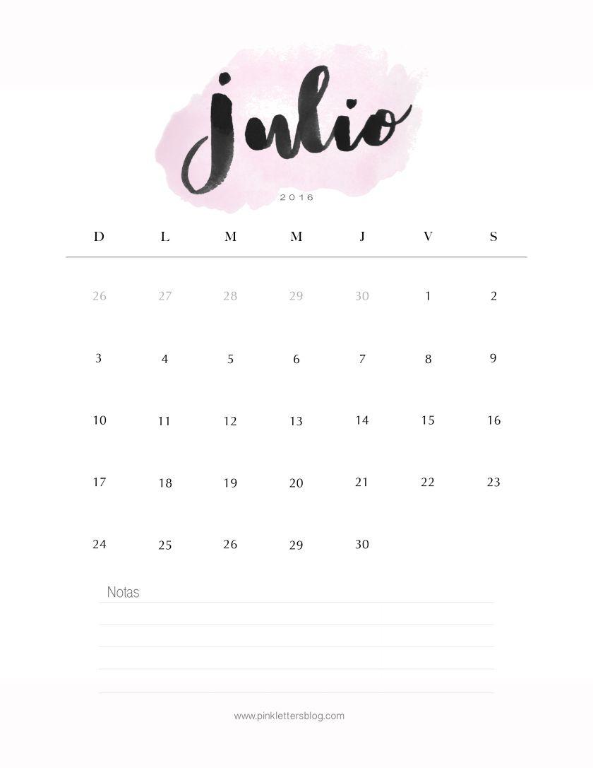 7f42340777 Calendario Julio 2016