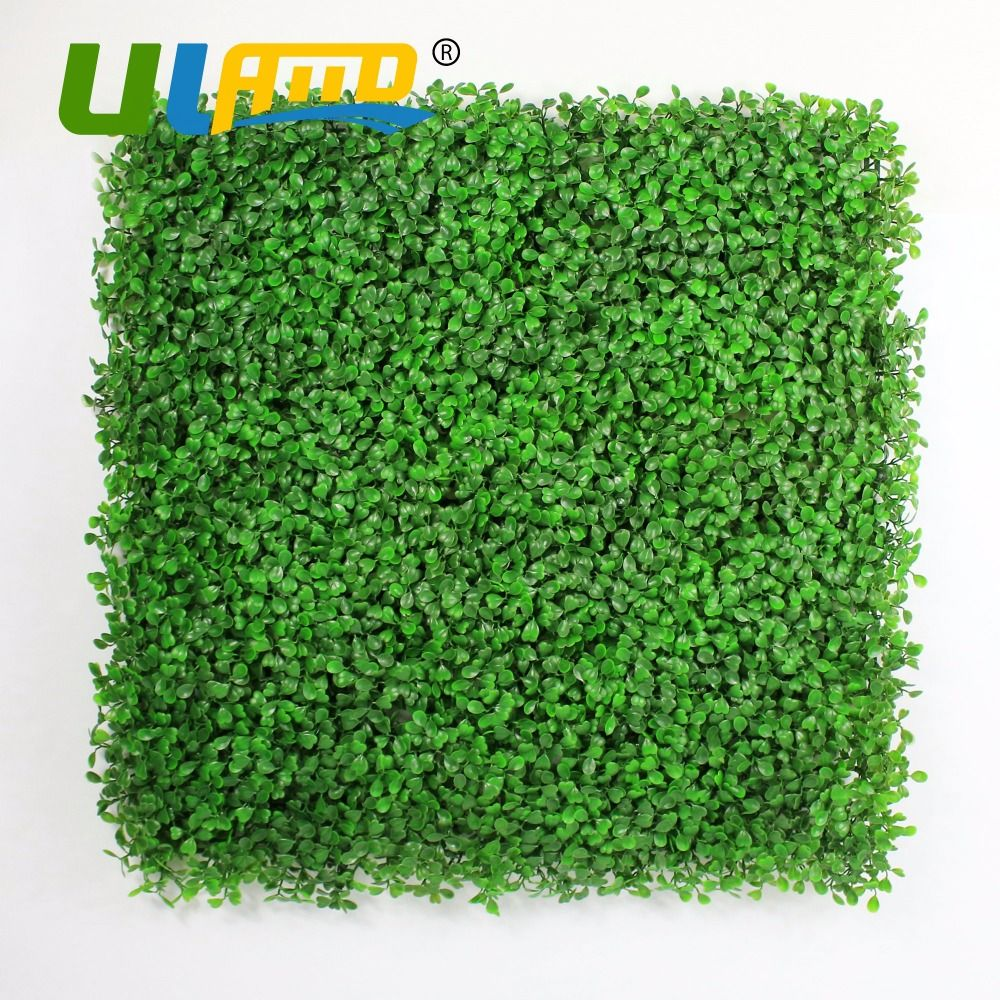 ULAND Plastic Privacy Fence Mat 50x50cm/pc Green Leaf Wall ...