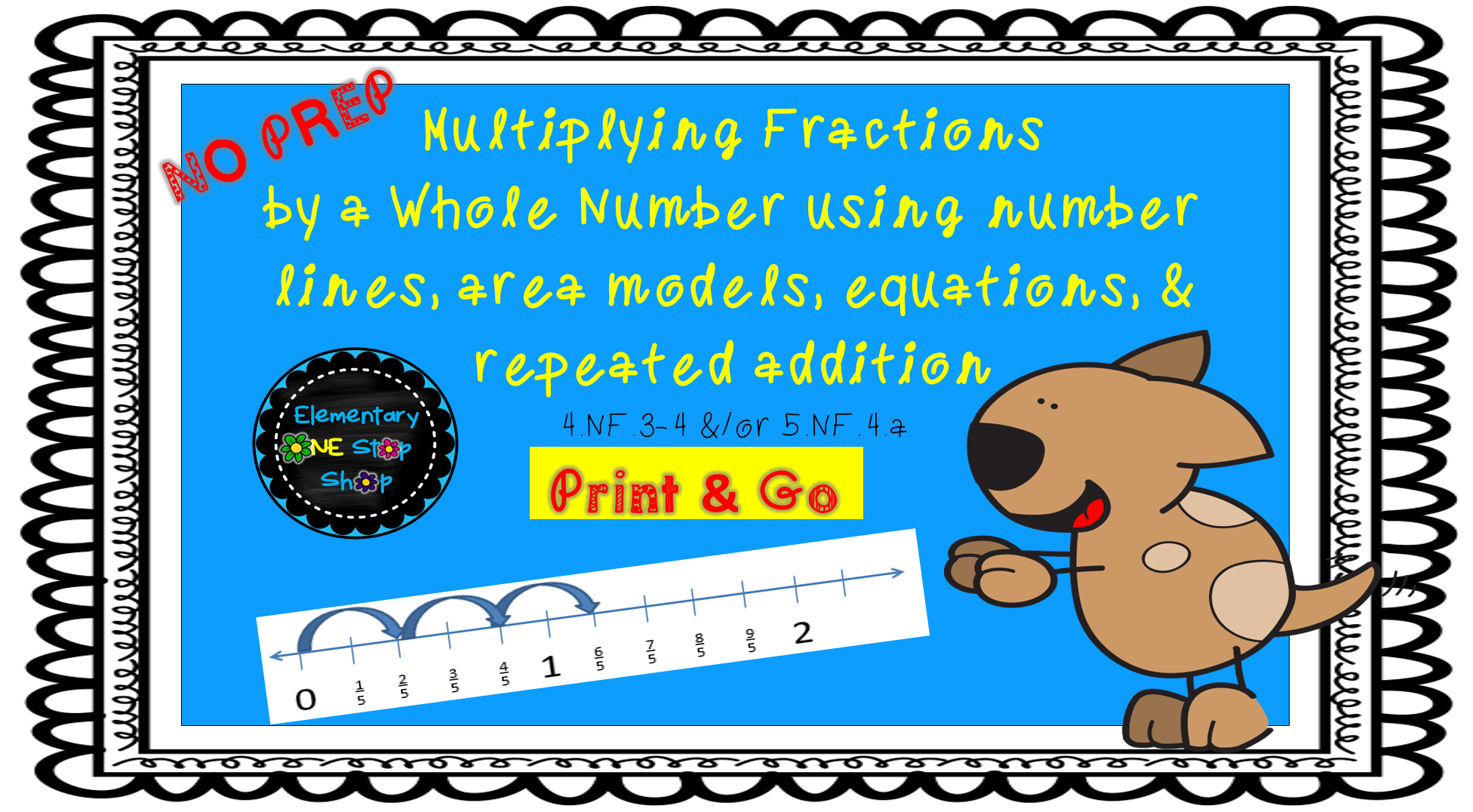 Strategies To Multiply Fractions By A Whole Number Print