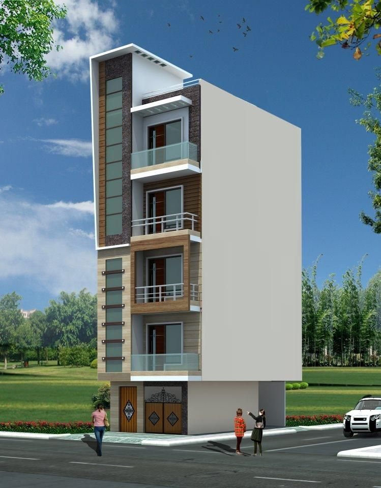 Front Elevation Designs For 4 Floors Building : Front elevation for floor building thefloors