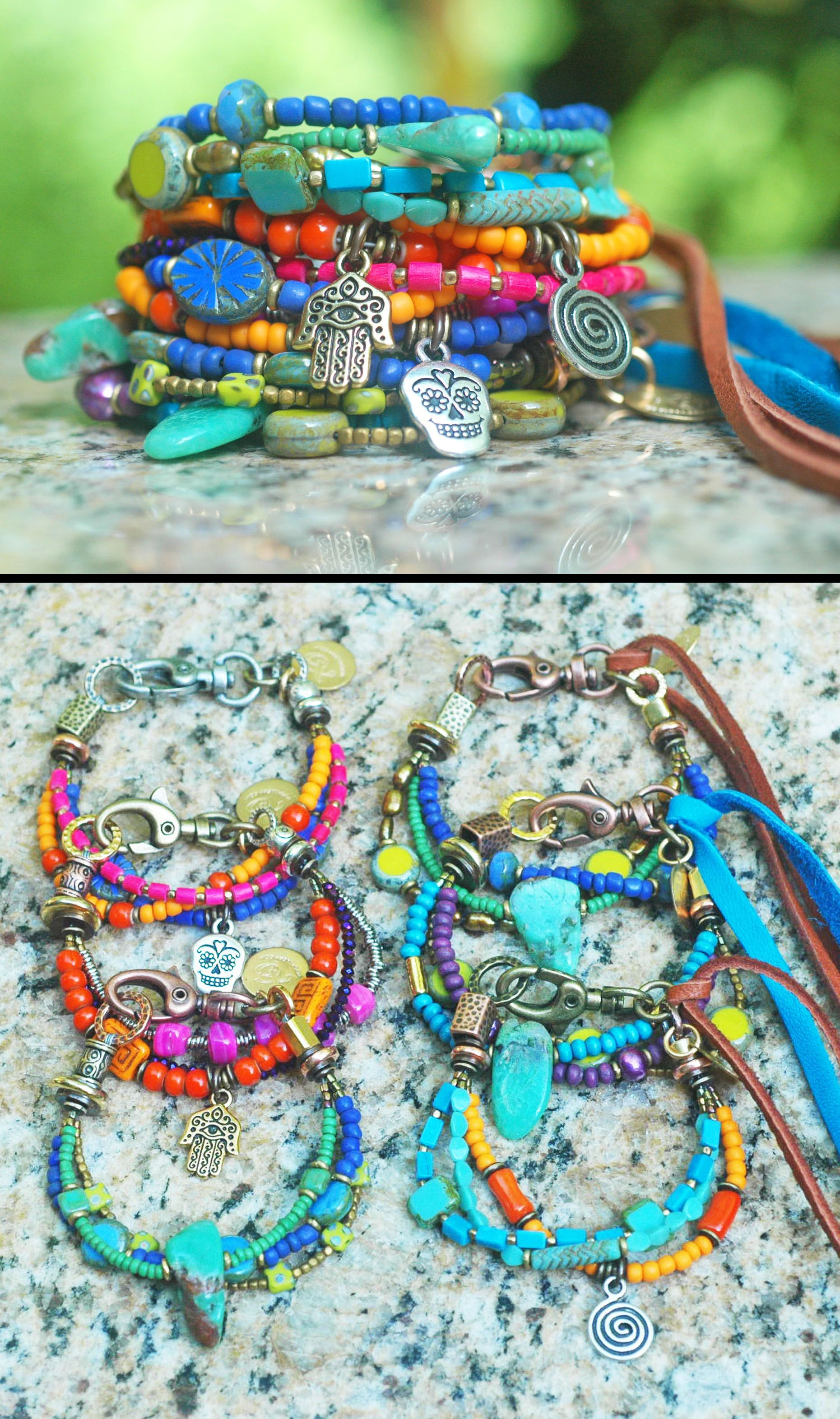 Everyday Gl Mixed Metal And Leather Custom Friendship Bracelets