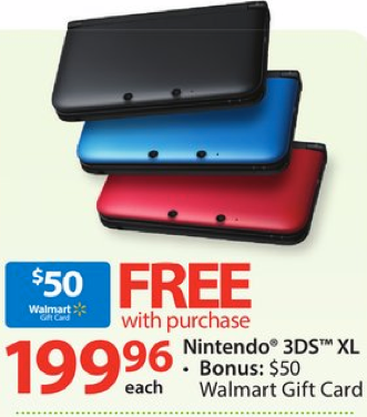 Walmart: *HOT* Nintendo 3DS XL Only $99.99 After Gift Card & Price Match (Regularly $200!) – Hip2Save
