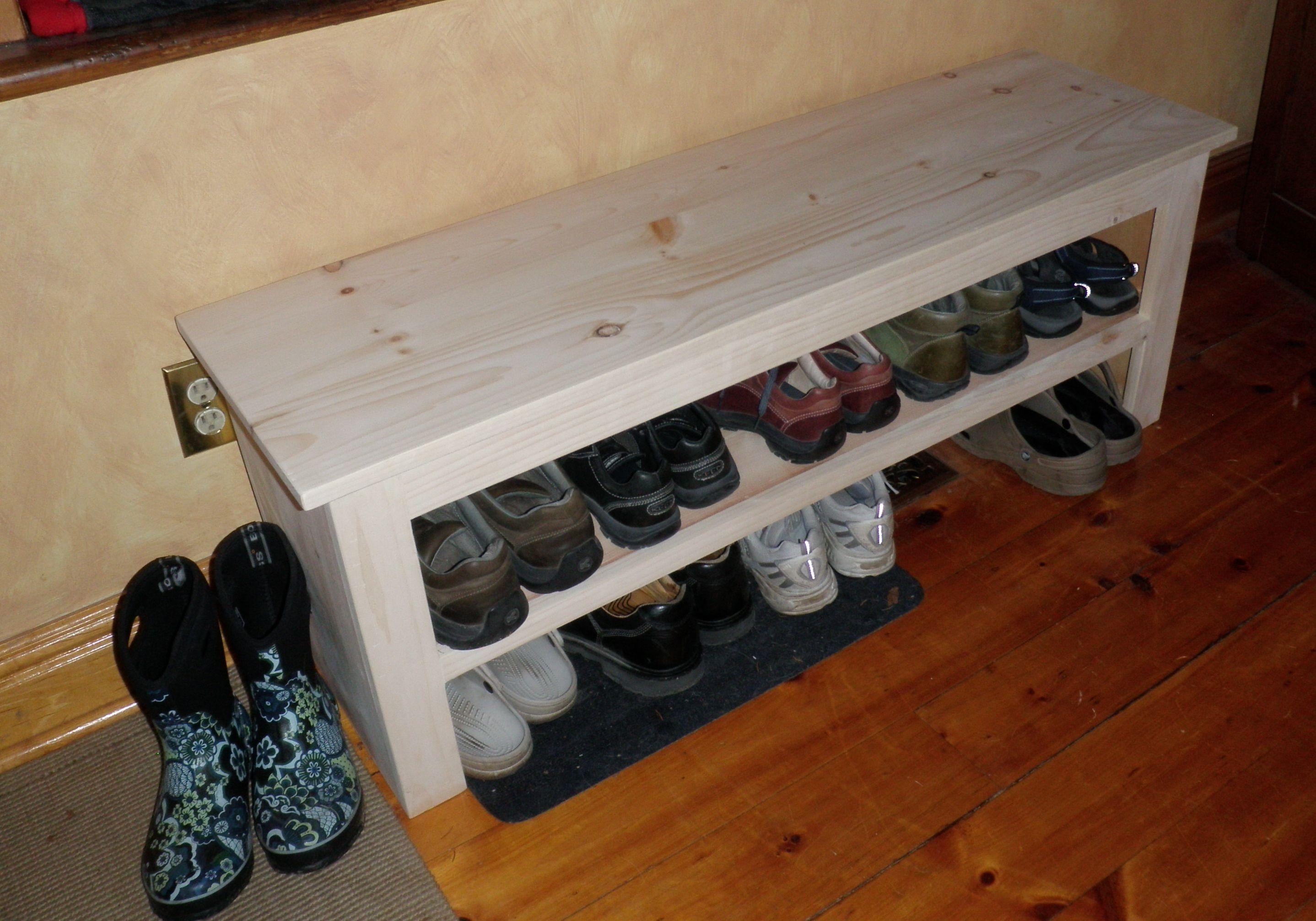 Entry Shoe Bench Diy Storage Bench Bench With Shoe Storage Wooden Diy