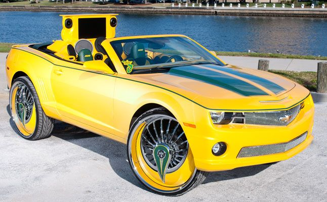 Cars Chevrolet Chevy Camaro Ss Yellow Tampa Vert Convertible