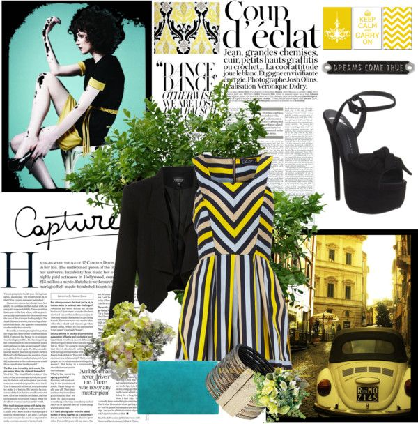 Black & Yellow, created by paris-alexander on Polyvore