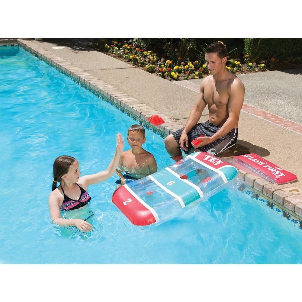 Poolmaster Splash Point Game 86198 The Home Depot Swimming Pool Games Pool Games Cool Playgrounds