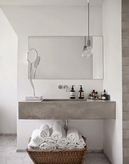 Beton Waschbecken Badezimmer Arbeitsplatten Badezimmer Innenausstattung Badezimmer Dekor