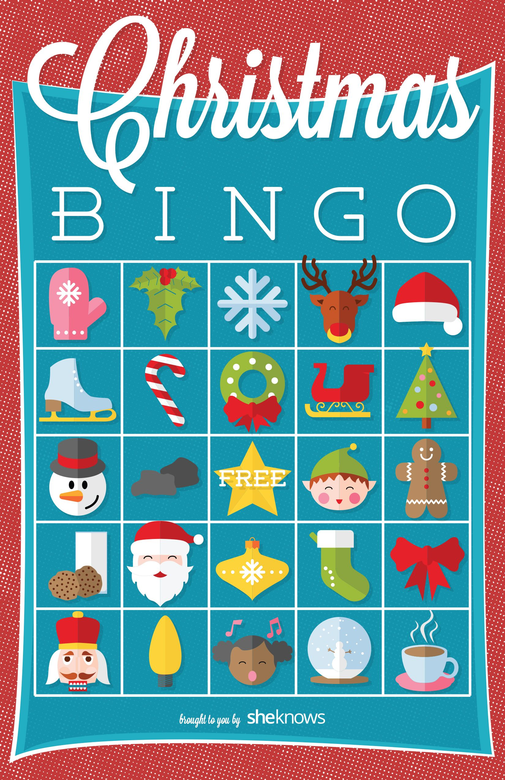 Festive bingo game will keep kids occupied throughout the