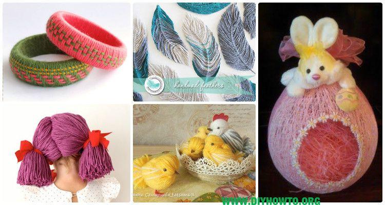 diy yarn crafts ideas projects no crochet yarn wig yarn dolls and