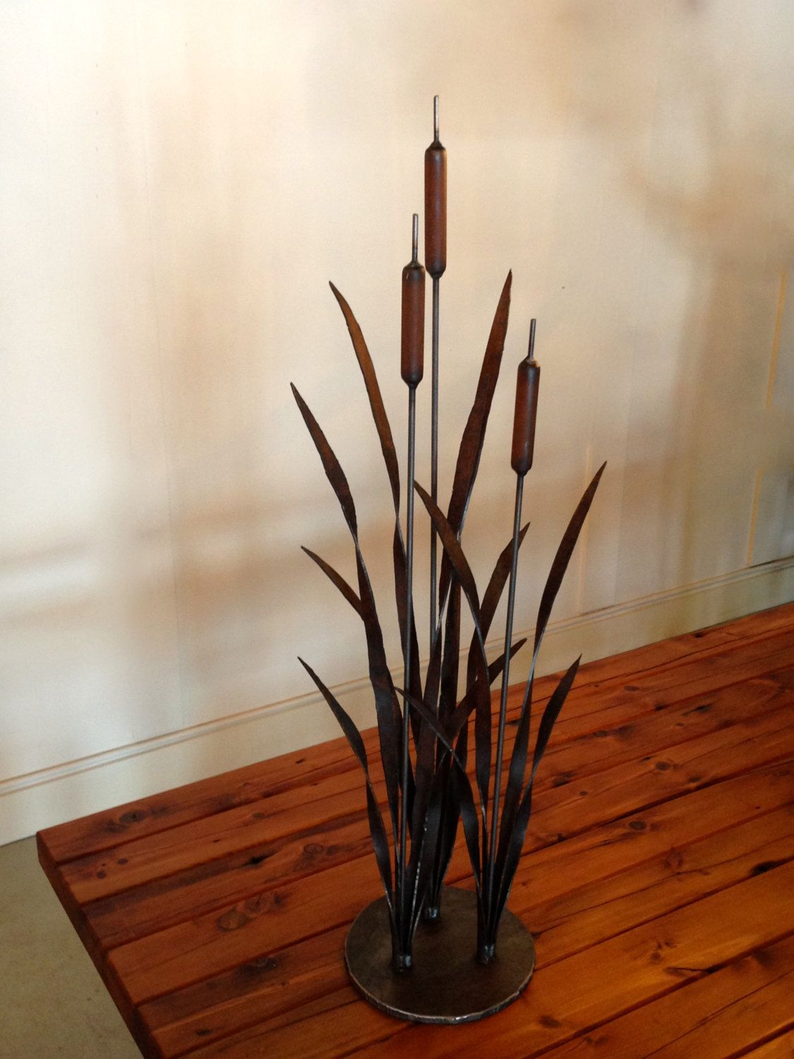 Metal Bulrush Sculpture/Garden Art | Pinterest | Garden art, Metals ...
