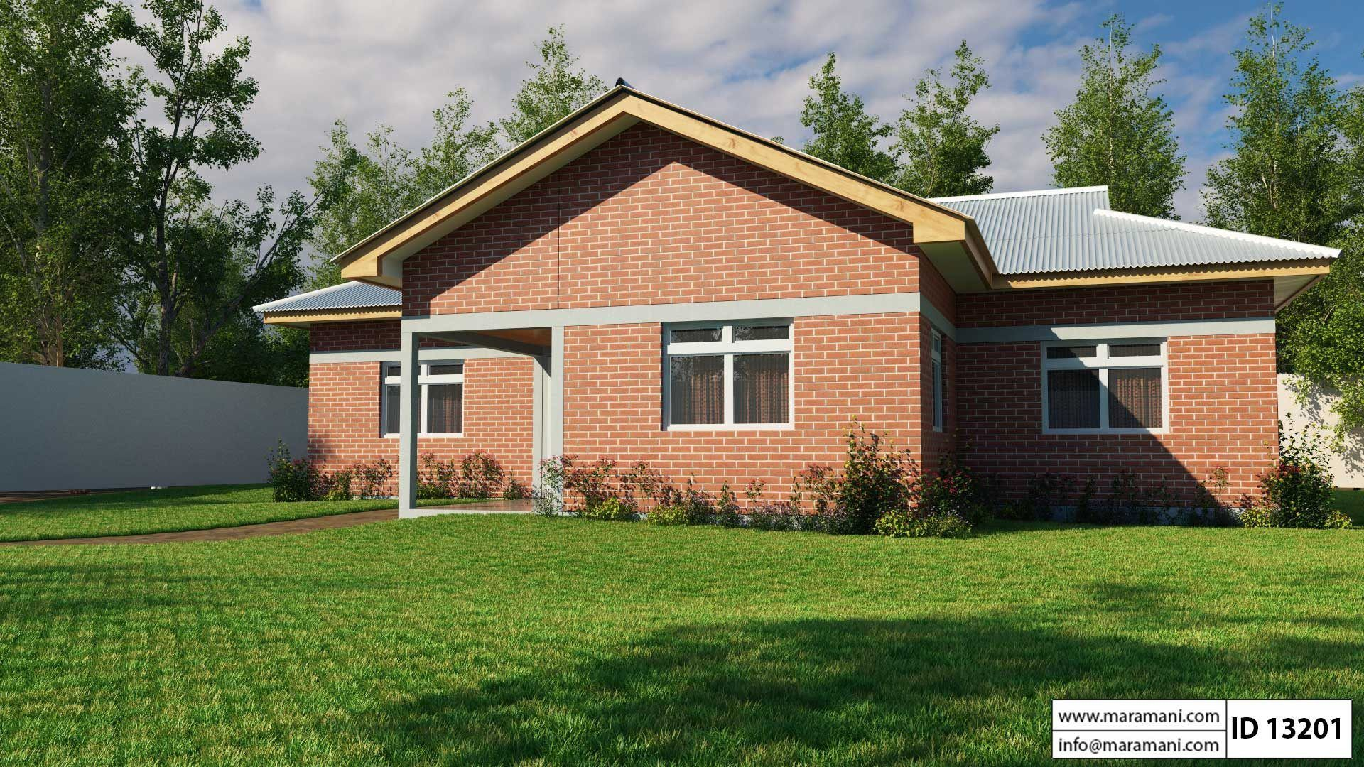 3 Bedroom House Plan Id 13201 My House Plans Brick House Designs Bedroom House Plans