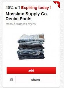 HOT Target Cartwheel Offer 40 Off Mossimo Denim Pants