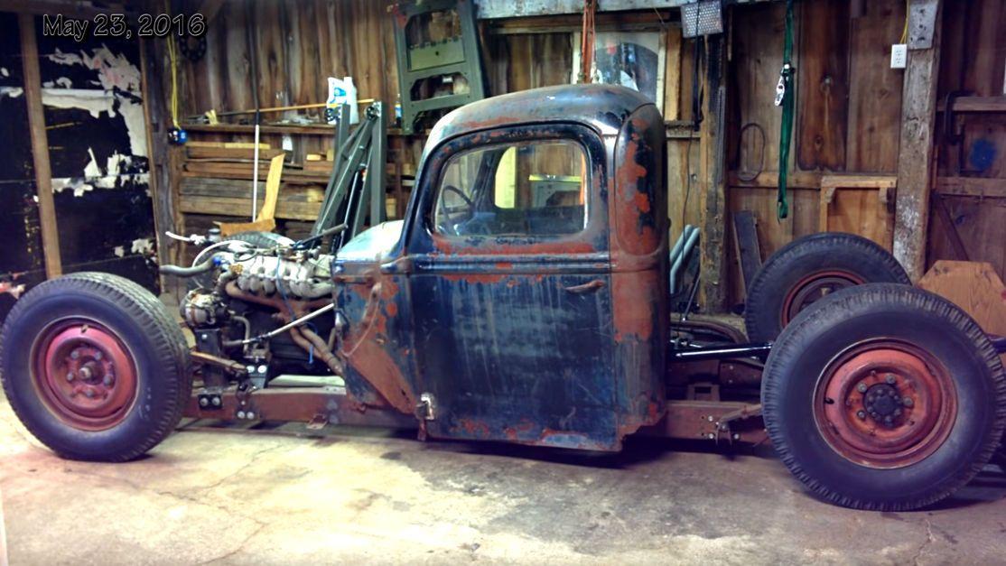 Upside Down 1946 Ford 1 Ton Rat Rod Truck Build Rat Rods Truck Rat Rod Truck Rat Rod