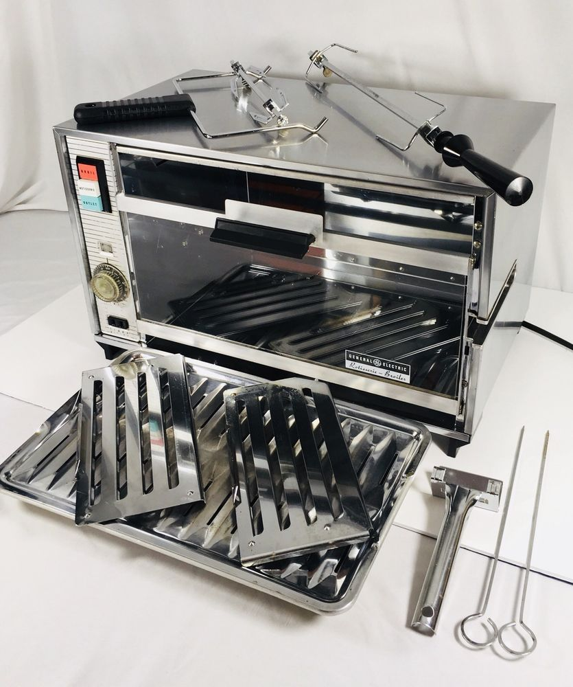 Vintage General Electric Ge Oven Rotisserie Broiler 20r21 Indoor Counter Works Home Appliance Store Ebay Store Ge Oven