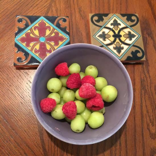 FROZEN GRAPES AND RASPBERRIES = ULTIMATE STUDY SNACK