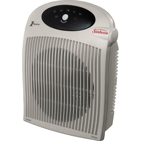 Sunbeam Portable Heater With Bathroom Safe Plug