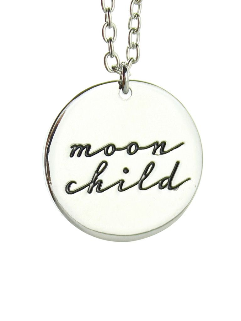 Moon Child Necklace Silver