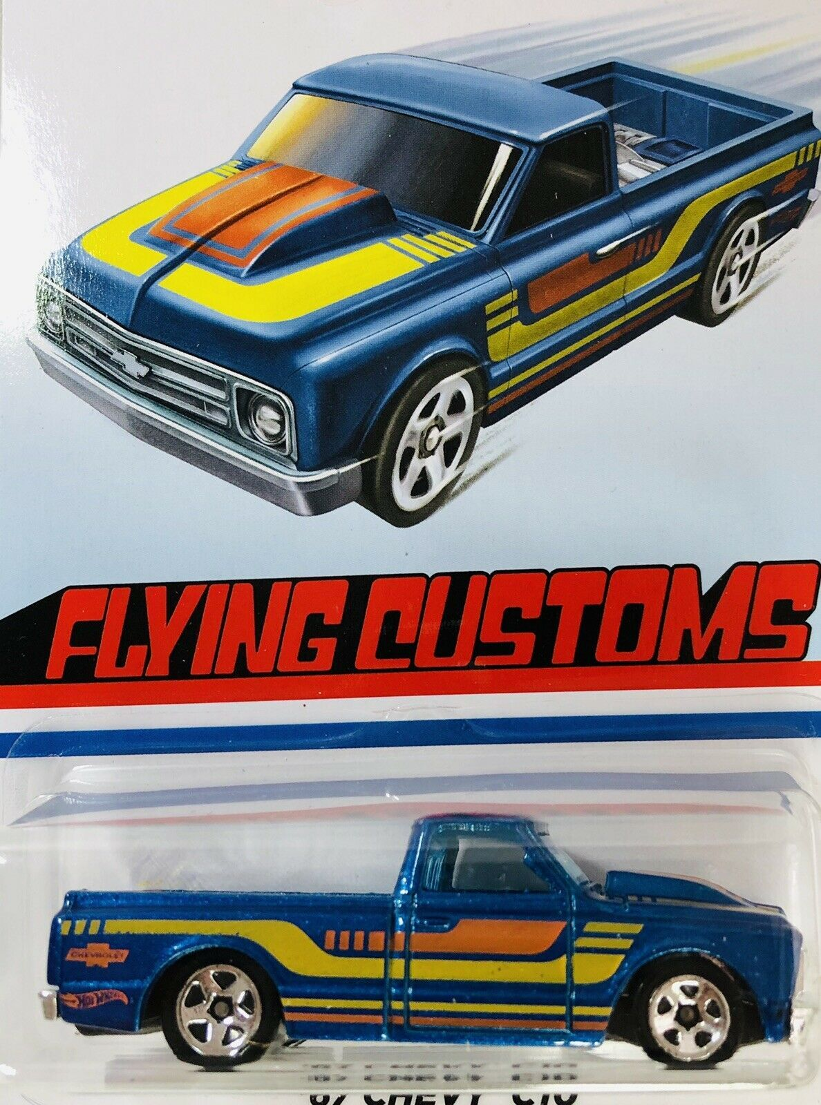 """2020 HOT WHEELS FLYING CUSTOMS """" '67 CHEVY C10 """" NEW in"""