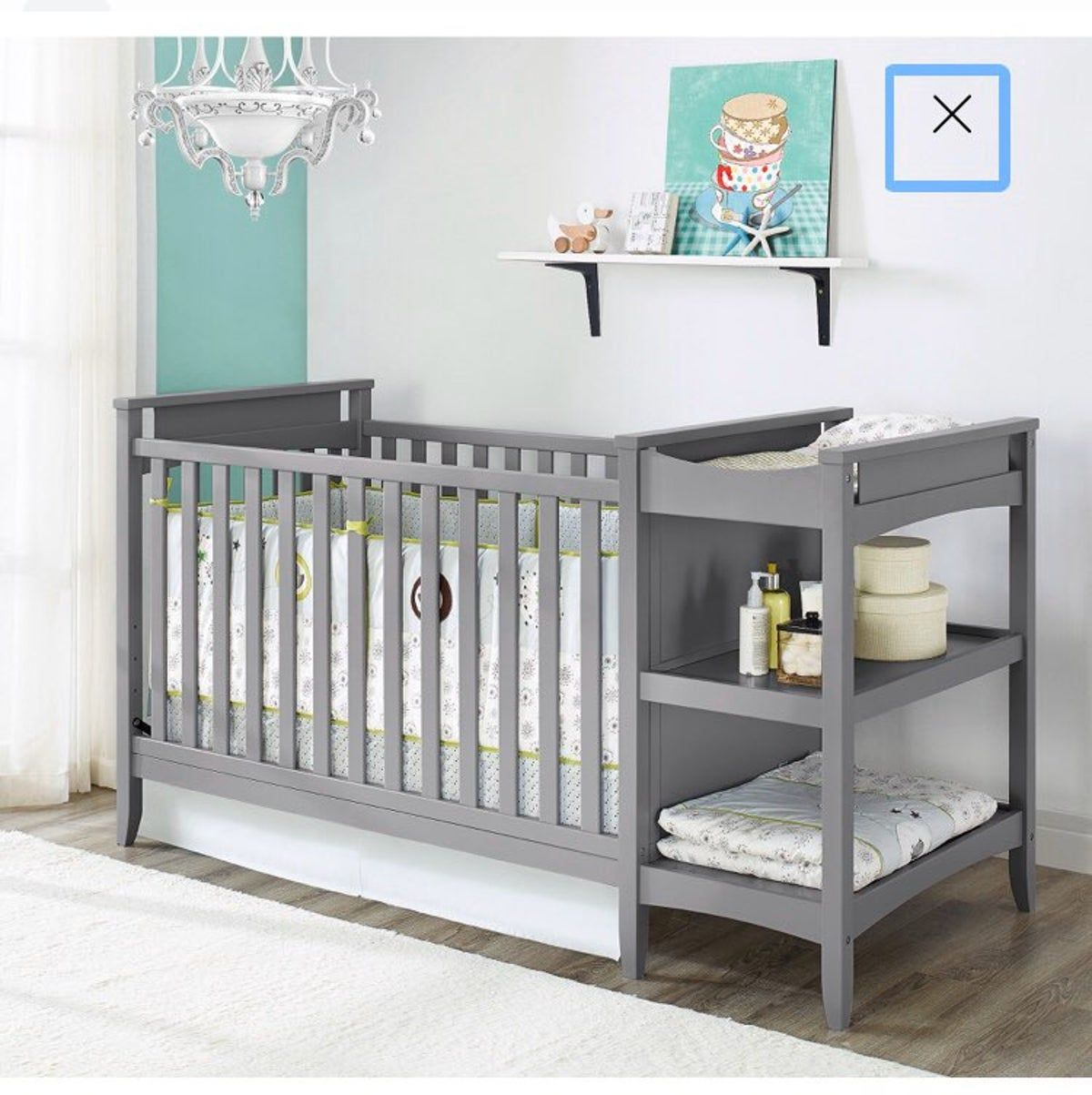 Pin By Makenna Penewit On Nursery In 2020 Crib And Changing Table Combo Crib With Changing Table Baby Furniture