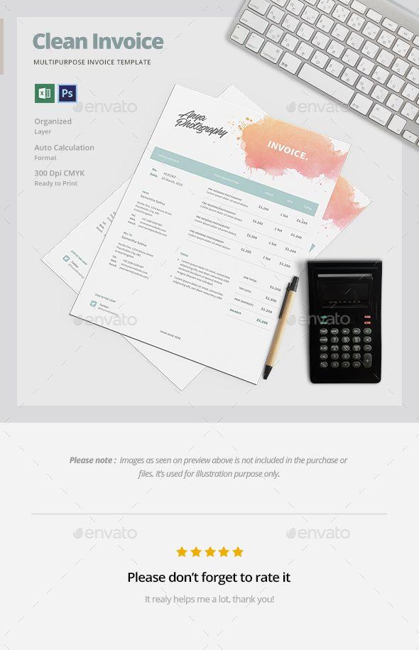creative invoice template | photoshop, stationery and invoice template, Invoice examples