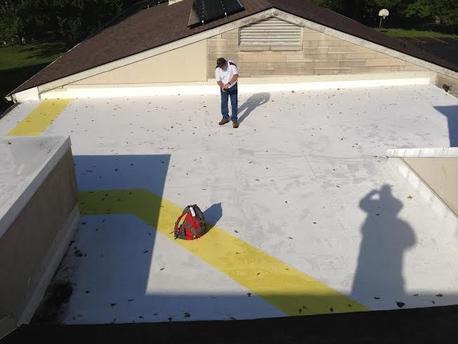 Top Coat And Walk Path Done In Gaco Silicone Roof Coating Luxury Design Roof Coating Indianapolis Indiana