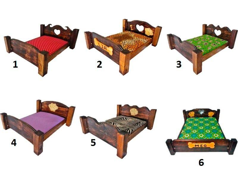 cama para pets em madeira 70x50cm c/ nome gratis