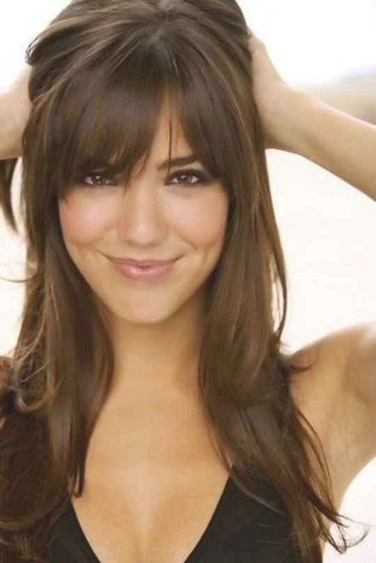 1000 Ideas About Bangs Long Hair On Pinterest Side Intended For Bang Hairstyles Pretty