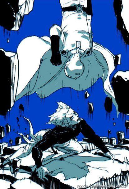 saitama vs garou   One punch man manga, One punch man ...