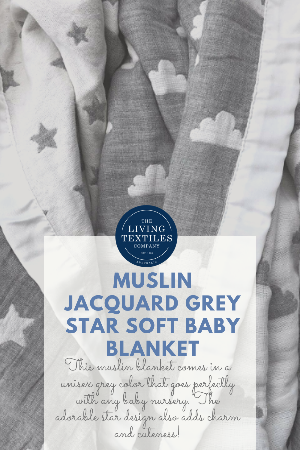 Living Textiles Muslin Jacquard Grey Star Soft Baby Blanket In 2020 Soft Baby Blankets Baby Play Activities Parenting Hacks Baby